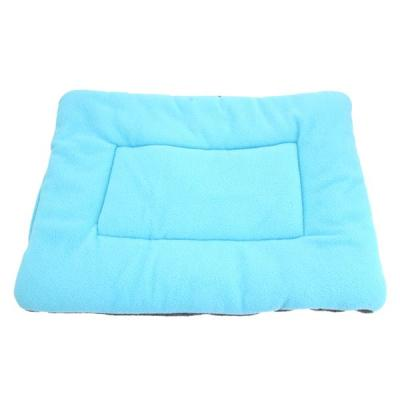 Washable Soft Comfortable Silk Wadding Bed Pad Mat Cushion for Dog Cat Pet Light Blue Size M
