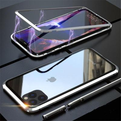 Magnetic Adsorption Two Side Glass Case for iPhone 12
