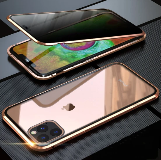 Anti Spy Privacy Magnetic Double Sided Screen Case for iPhone 11 Pro Max