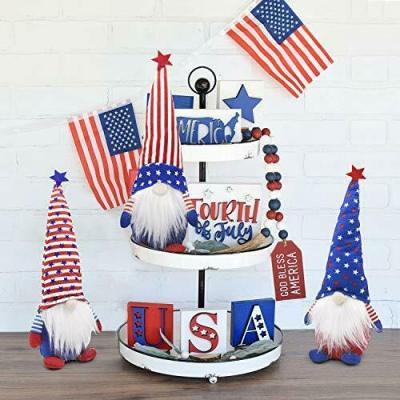 American Patriotic Gnome Doll For Gift And Decoration
