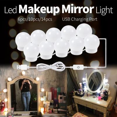 LED Makeup Mirror Light Bulb | Stepless Dimmable Wall Lamp Kit for Dressing Table