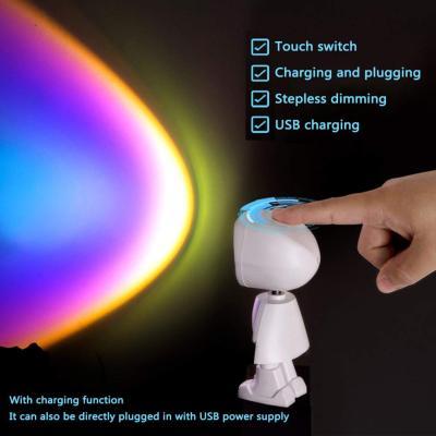 Sunset Projection LED Light, Robot Rainbow Floor Lamp
