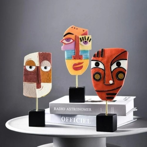 Picasso Abstract Face Statuettes