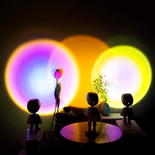 Sunset Projection LED Light, Robot Rainbow Floor Lamp