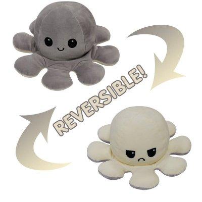 Reversible Octopus Mood Plushie Stuffed Animal - 27 Colors