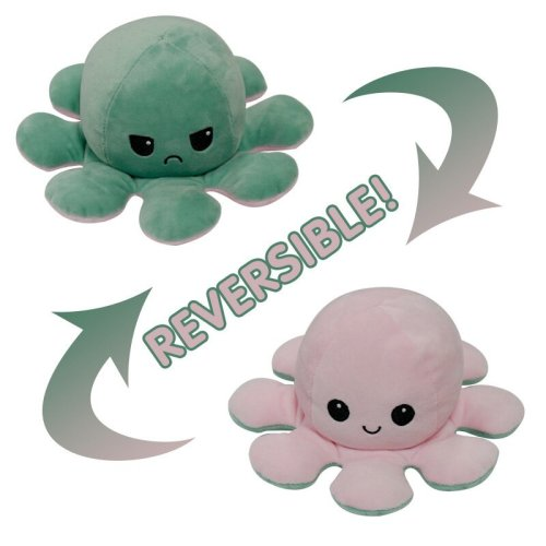 Reversible Octopus Mood Plushie Stuffed Animal - 27 Colors