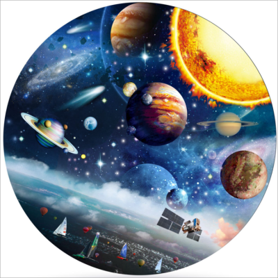 1000 PIECES JIGSAW FOR ADULTS, STAR CITY CIRCULAR PUZZLE