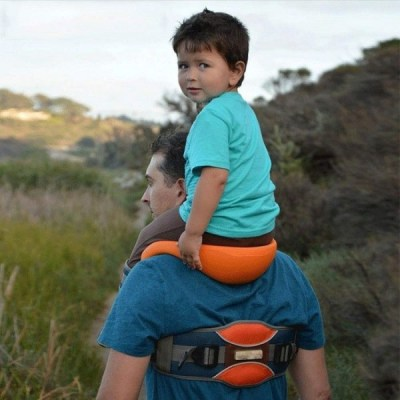 Baby Hands-Free Shoulder Carrier with Ankle Straps