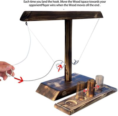 Hook and Ring Toss Battle Game, Play Platoon Hook and Ring Game with Scoreboard