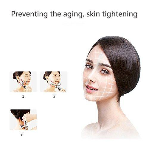 3D Roller Face Massager, Face Lift Tool Firming Beauty Massage Body Face Massager.
