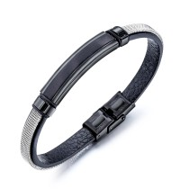 Factory Hot Seller Popular Jewelry Chain Fashion Male Black Bracelet