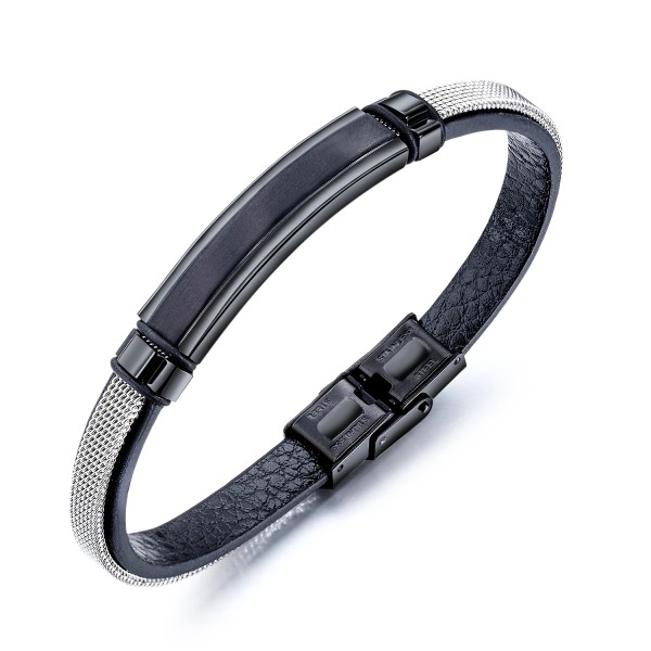 Factory Hot Seller Popular Jewelry Chain Fashion Male Black Bracelet