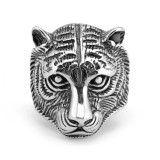 Domineering Tiger Head Titanium Steel Men Ring 316L Stainless Steel Ring