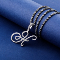 Letter Pendant Retro Personality Men and Women Necklace Customized Accessories