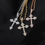 INS Explosion Cross-border Personality Retro Jesus Cross Pendant Necklace