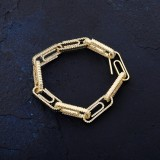 Explosion Models Full Of Zircon Thorns Chain Hipster Street Men's Bracelet