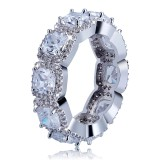 Wholesale Personality Micro Studded Zircon Hip Hop Ring Hipster Men's Ring