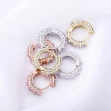 Huggie Hoop Earrings Full Of Zircon BlingBling Hip Hop Earrings For Women