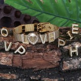 Hot Sale Hip Hop Creative Fashion DIY Custom Letters And Numbers Bracelet