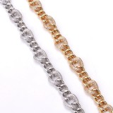 Western Hot Selling Elegant Fashion Female Boss Micro Inlaid Zircon Cuban Chain