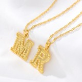 Gold Plated Stainless Steel Pendant Jewelry Letter Necklace Initial, 2020 New Initial Necklace