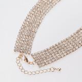 Fashion Accessories Choker Collar Necklace For Women Crystal Statement Super Luxury Rhinestone Necklaces Wedding Gift OEM Custom
