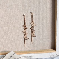 HOVANCI New Butterfly Long Earring For Women Delicate Cute Earrings Korean Fashion Jewelry Graceful Joker Lady Accessories