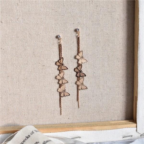 HOVANCI New Butterfly Long Earring For Women Delicate Cute Earrings Korean Fashion Jewelry Graceful Joker Lady Accessories