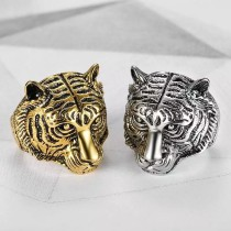 Jewelry Tiger Head Finger Ring Any Size Men's Ring
