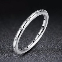 Engagement Wedding Anniversary Rings with Cubic Zirconic Women Jewelry