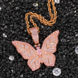 Zircon Butterfly Necklace Sweater Chain
