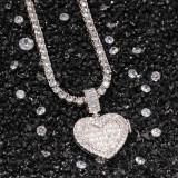 Cubic Zircon Heart Pendant Necklace