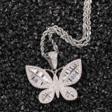 European and American fashion butterfly necklace