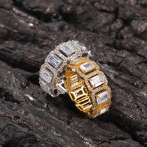 Personalized hollow zircon ring
