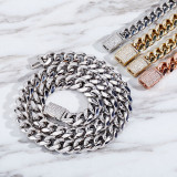 Electroplated hip-hop necklace