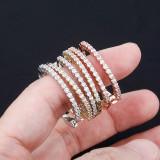 Round ladies earrings, real gold plating earrings