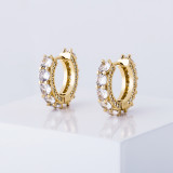 Hot 925 sterling silver real gold plating earrings
