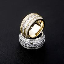 Real Gold Plating Hip Hop Men's Ring