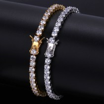 European and American cross-border hip hop zircon bracelet