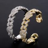 Real gold electroplated zircon bracelet