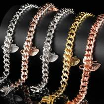 New two butterfly zircon anklets