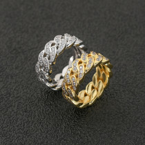 Zircon Electroplated 18K Gold Ring
