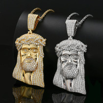 Jesus Christ Human Head Pendant Necklace