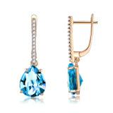 Drop-shaped zircon earrings