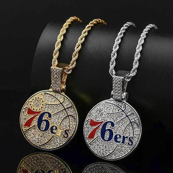 Hip hop team necklace, zircon necklace