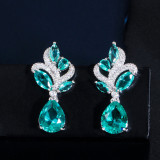 Korean style small fresh zircon earrings