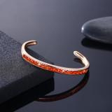 Fashion champagne gold zircon bracelet