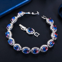 European and American personality color crystal bracelet