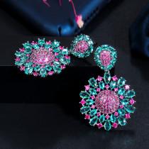 Bohemian style light luxury fashion zircon earrings