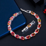Zircon gradient crystal glass bracelet